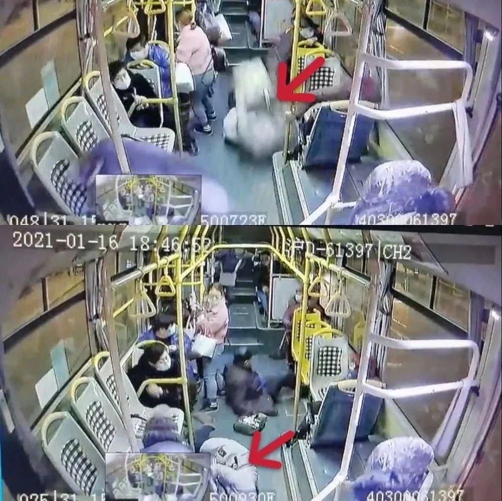 一公交车急刹车,38岁女乘客被甩出后不治身亡!现场视频揪心