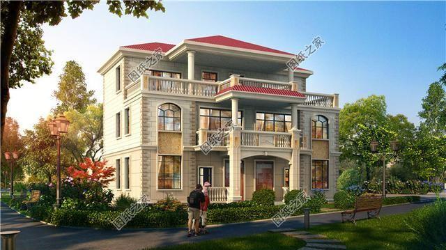农村兄弟双拼楼房设计图,二层三层都有,兄弟建房令人羡慕不已