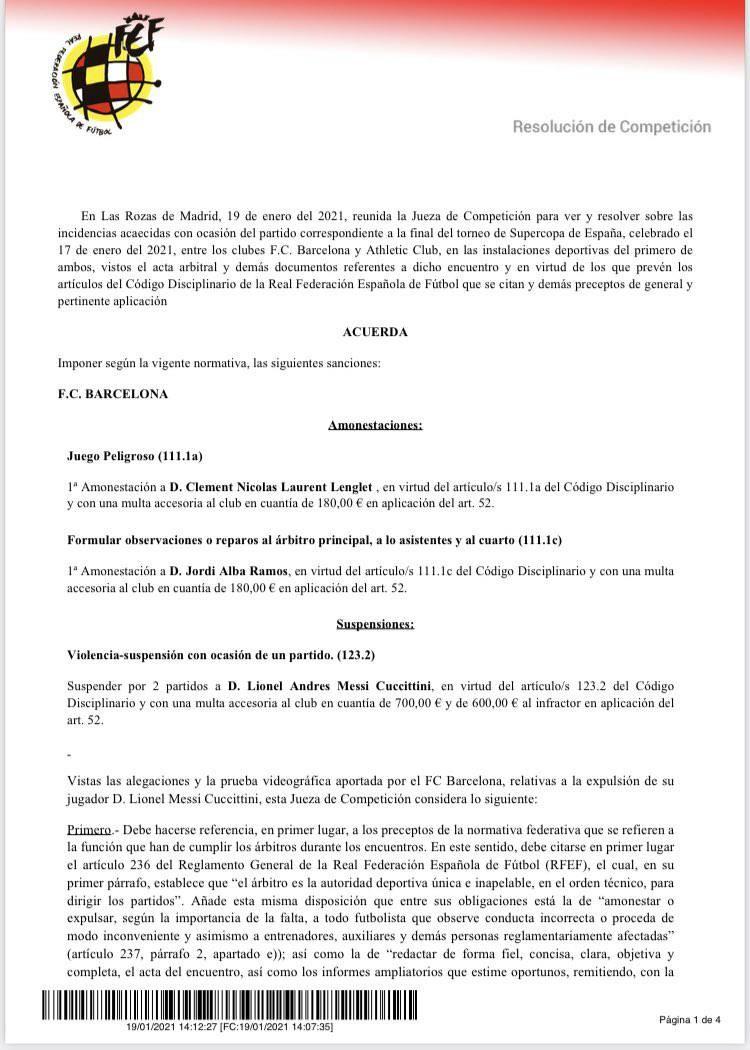 濒临破产的巴萨雪上加霜,西足协处罚,巴萨被罚款700欧