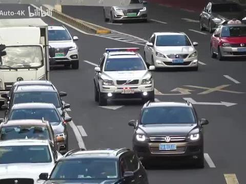 【4K】上海警察沃尔沃XC90警车CODE2巡逻中!