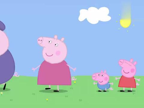 佩奇和猪爷爷做了一个稻草人,结果效果拔群,小鸟们立马飞走了