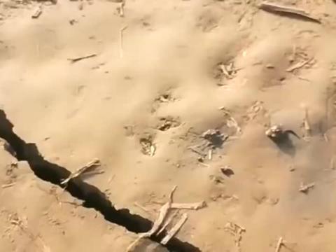 黄河来自大自然的威力,一个小时还站在这个位置,无一点裂缝!