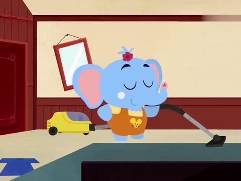熊猫博士:奥莉帮忙清理屋子,想找到自己的篮球,但始终没有结果