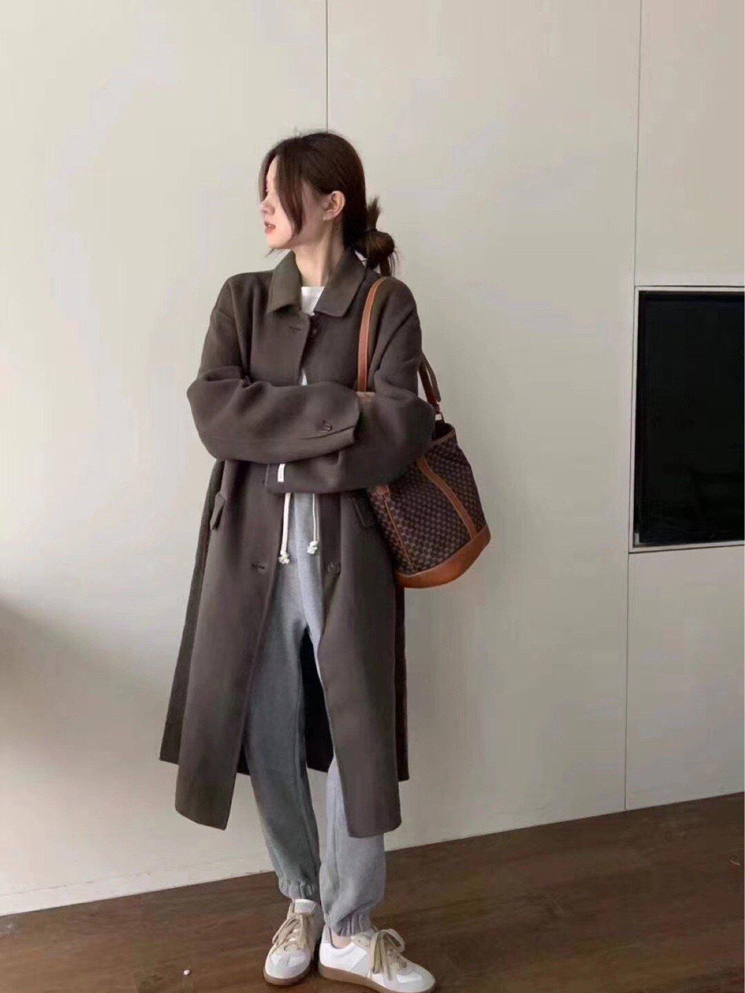 冬日韩系羊绒大衣穿搭参考