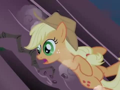 紫悦要掉下去了,嘉儿却让她放手,有小马接着呢
