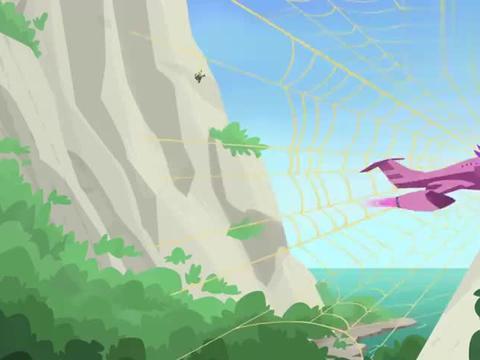 动物兄弟:多尼塔的飞机被蜘蛛网黏住了,现在一点也动不了