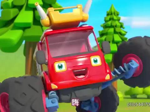 宝宝巴士:怪兽消防车非常厉害,关键时很勇敢,灭火还是他靠谱
