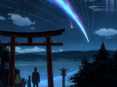 彗星真的分裂了,再东京人眼里的奇观,其实就要毁灭三叶的小镇了