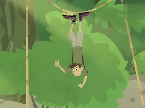 动物兄弟:克里斯被蜘蛛网黏住了,马丁建议他尽量不要动