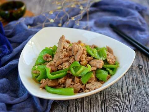 """青椒炒肉这样做,肉质滑嫩不祡,与米饭是好""""搭档"""""""