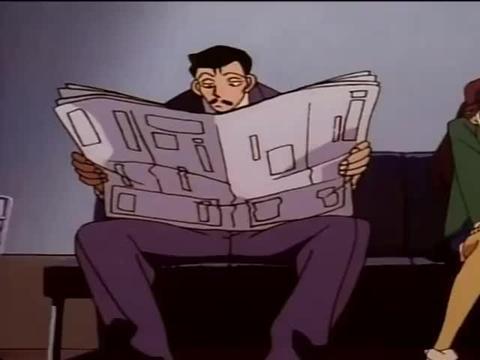 毛利在报纸上看到关于百货大楼强盗事件,小兰:难道是