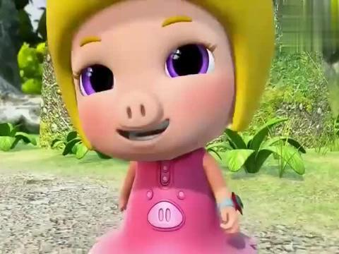 猪猪侠:菲菲发卡掉进水里,一直青蛙捡上来,像青蛙王子!