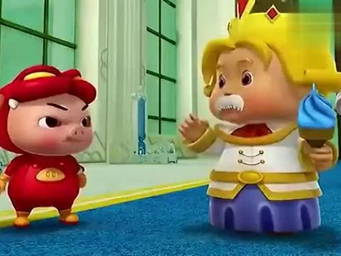 猪猪侠:侍卫对猪猪侠说碰了那个镜子的人下场都不好