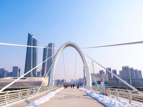 南京河西新城高楼林立,成华东第二大中央商务区