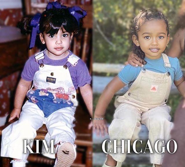 卡戴珊小女儿芝加哥:全家颜值最高,从小就看得出是美女胚子!