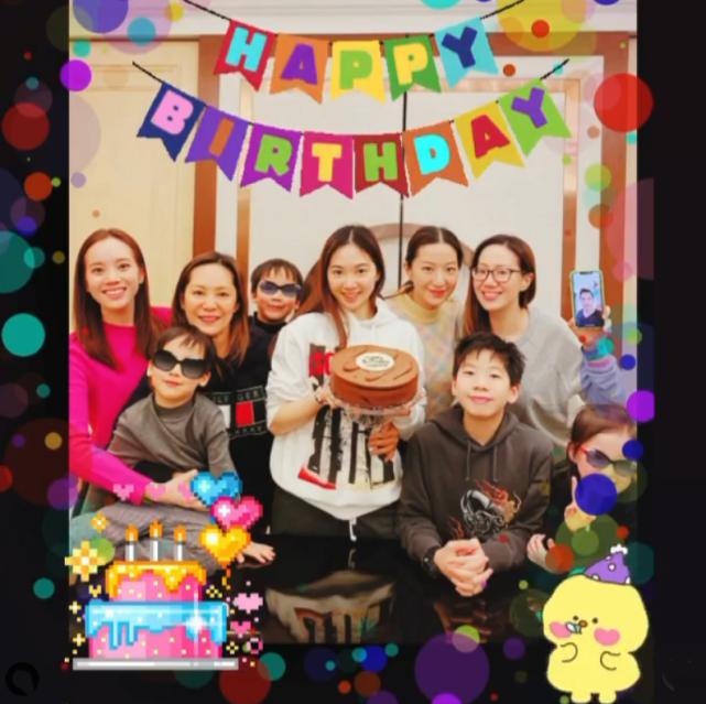 汪诗诗携亲友为女儿开心庆生 甄子丹因工作只能隔空参加生日派对