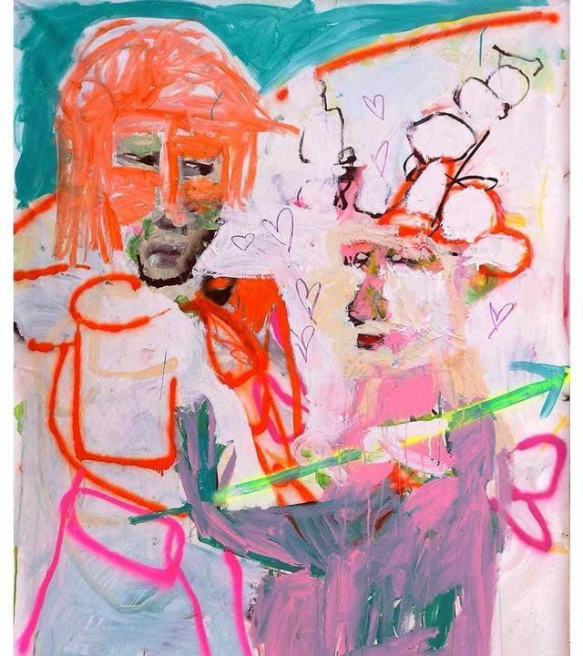 画家Emanuele Tozzoli的表现主义绘画作品