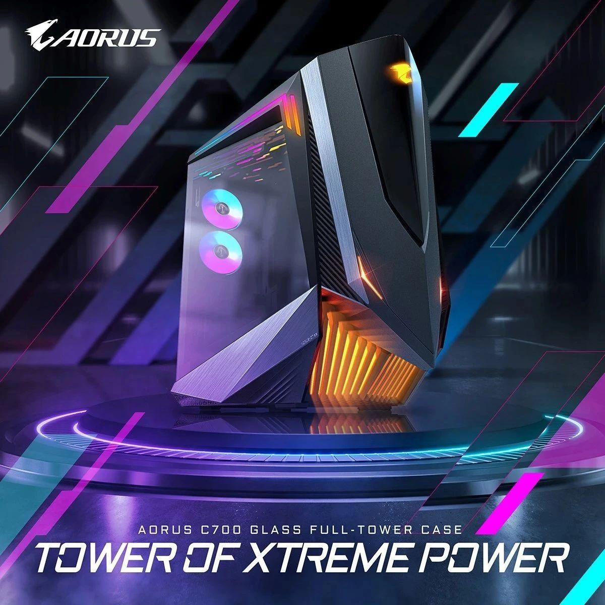 技嘉发布AORUS C700 GLASS机箱:兼容顶级电竞硬件的雕牌旗舰