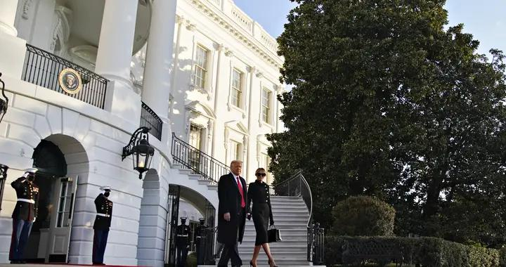 特朗普离开白宫 搭乘飞机前往安德鲁斯空军基地