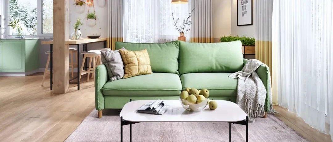 70㎡简约小公寓,简单鲜艳的空间,满屋清新文艺气息感