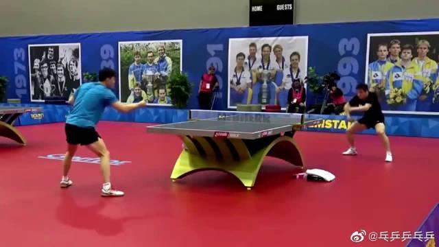 马龙vs樊振东,这练球还可以吧