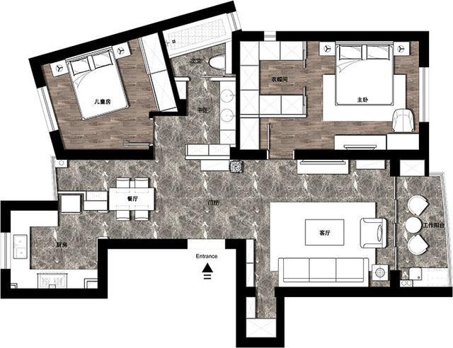 89平的日式风美家,原木充斥的空间,给自己一个平和的生活