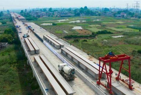 四川在规划新高速公路,全长123.48公里,采用双向四车道