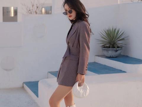 冬季选西装搭配造型,显腿长还增加气质感
