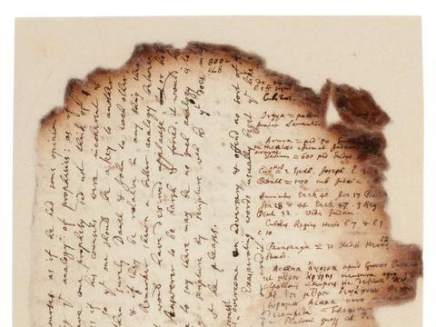 牛顿手稿曝光:大科学家醉心研究炼金术、末世预言和埃及金字塔
