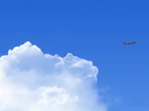 熊熊从空中坠落,包里啥都有就是没有降落伞,跳伞不能这么玩啊!
