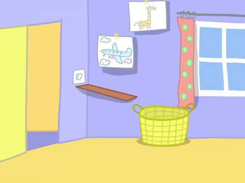 斑马先生帮佩奇组装柜子,放好了佩奇和乔治的玩具