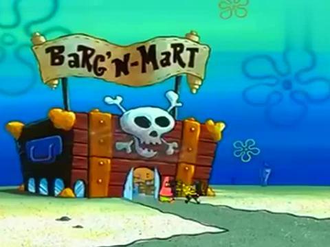 海绵宝宝派大星想当企业家,去推销巧克力,怎料客人是个疯子!