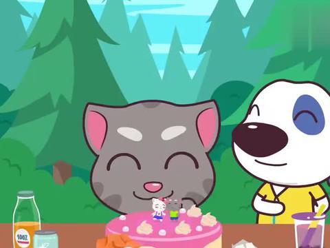 汤姆猫英雄小队:汉斯做的蛋糕真棒,安吉拉会喜欢的,汤姆给个赞