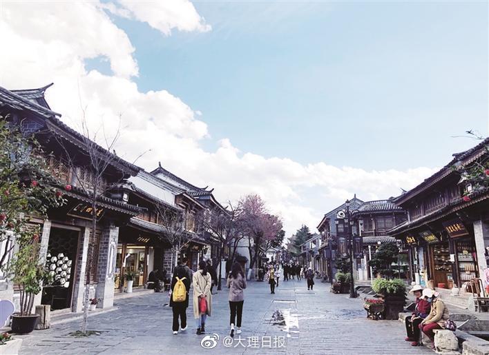 """大理古城复兴路步行街区改造提升擦亮城市""""活名片"""""""