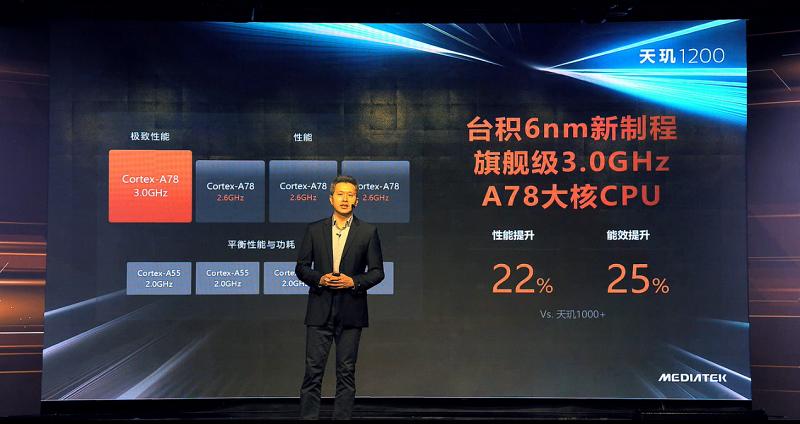 最强A78+超频G77,台积电6nm造就硬核旗舰天玑1200