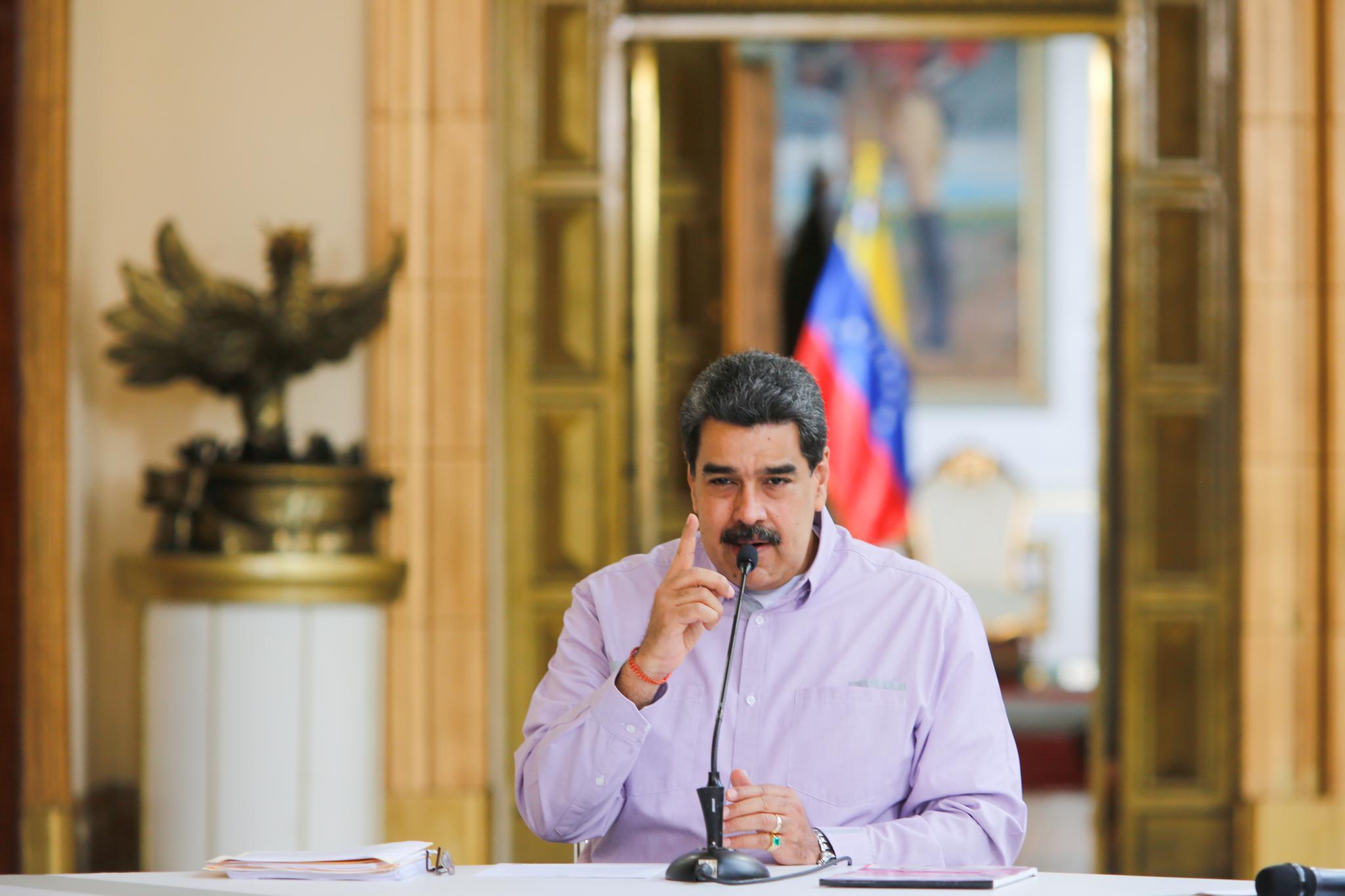 """马杜罗呼吁美国新政府停止""""妖魔化""""委内瑞拉"""