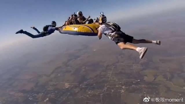 见识到真正的极限运动了,一般人去玩怕是都会晕,勇气可嘉!