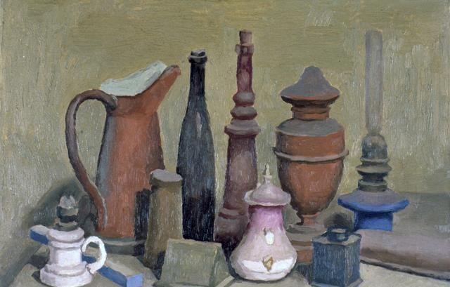 意大利著名画家乔治·莫兰迪静物油画作品欣赏