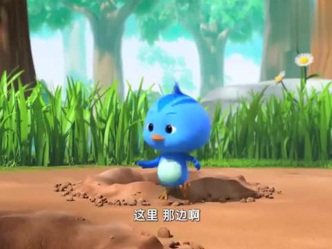 萌鸡小队:欢欢掉进了洞里,鼹鼠叔叔要带他出去,他却要找毽子!