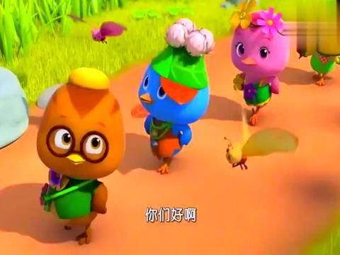 萌鸡小队:萌鸡变成了模特,穿着漂亮衣服,它们就不能玩球了!