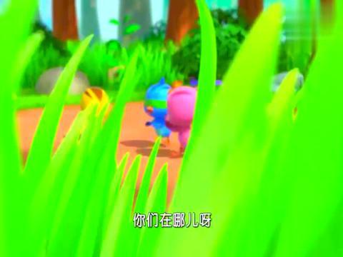 萌鸡小队:萌鸡们玩捉迷藏,欢欢跑的太快,撞到了老奶奶!