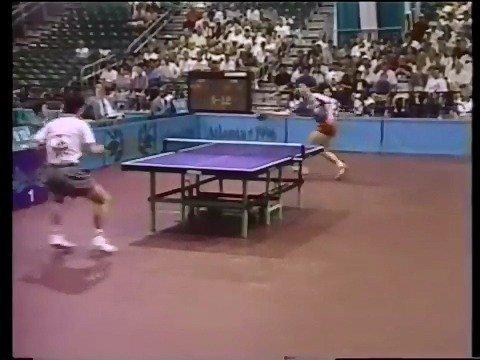 像素感人的一段视频。1996年亚特兰大奥运会,孔令辉vs金泽洙