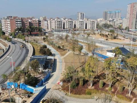 龙门县城悦龙公园、滨江碧道项目进入收尾阶段