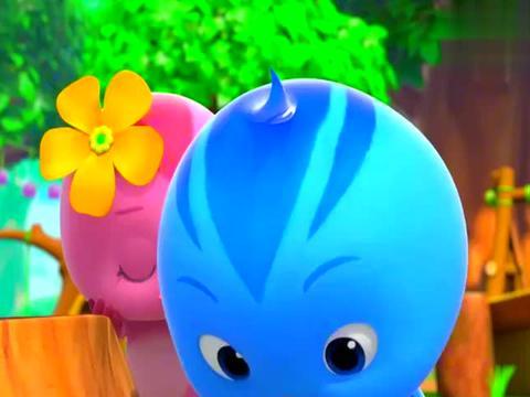 萌鸡小队:负子蝽着急赶路,一头撞到树桩上,蛋宝宝都撒了一地!