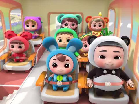 百变校巴:小可爱要去游乐园玩,有充气城堡,可以玩过家家!
