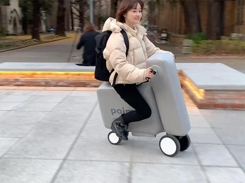 嘉合说设计:poimo是一种充气电动滑板车,可以放进你的背包里
