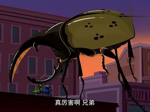 动物兄弟:本想把甲虫变回原形,结果甲虫落下把阿维娃也压住了!