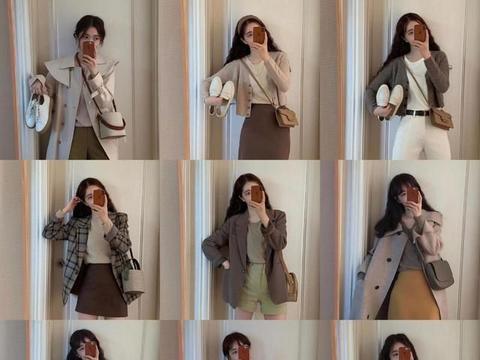 日常简约的时尚穿搭,做一个棕色系的穿搭女孩,你就是焦点