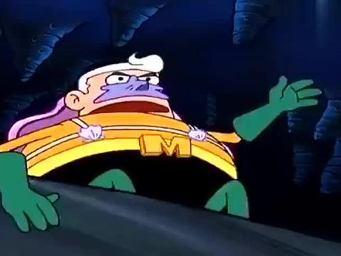 海绵宝宝:章鱼哥喷射火浆,却误伤海绵宝宝,超级英雄集体垮掉!