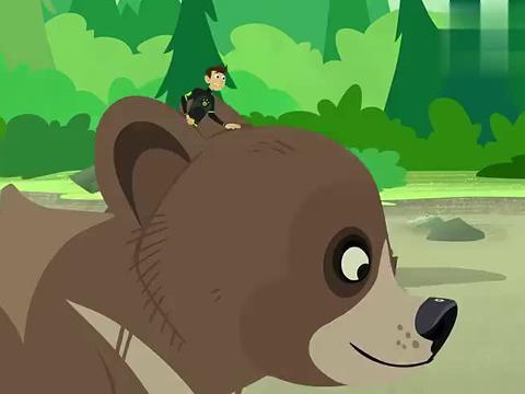 动物兄弟:两头熊都饿了,第一个倒霉蛋是谁会成为黑熊的食物!
